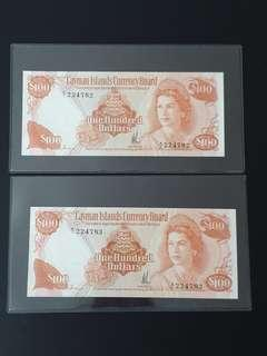 Rare 2-Run Cayman $100