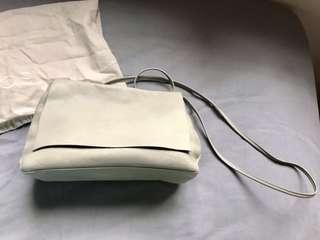COS soft leather purse (Light grey)