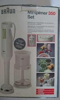 🚚 3-speed handblender with mini-chopper and whisk