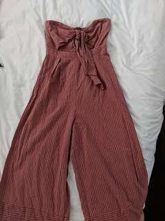 Pink stripe jumpsuit
