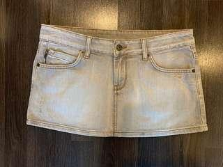 TOPSHOP grey denim mini skirt UK12