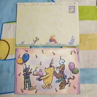 (包郵) Winnie the Pooh Classic 生日卡賀卡 Birthday Card
