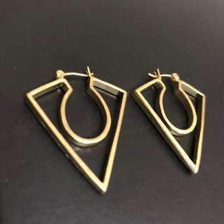 🚚 全新 / 歐美幾何三角大耳環