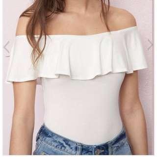 Garage Off the Shoulder Ruffle Top