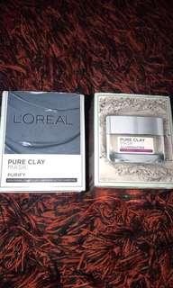 Loreal Pure Clay Mask Illuminating & Loreal Pure Clay Mask Detoxify