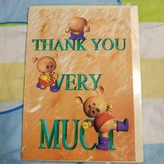 (包郵) Thank You Card 感謝卡
