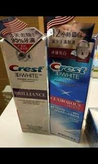 🚚 👍👍Crest 3D 專業鑽白牙膏/長效冰感鑽白