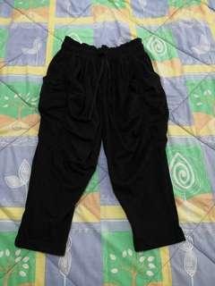 Women Elastic 3/4 Loose Trousers