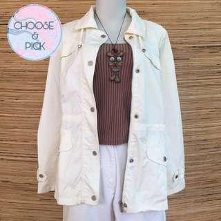 Jaket parka coat korean putih panjang