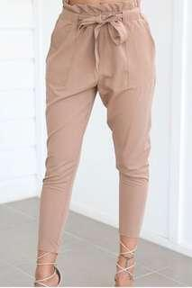 Tie up high waisted pants