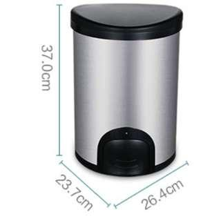 Kicking foot sensing anti-fingerprint stainless steel trash can (no inner barrel) - 12L