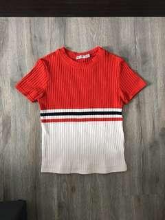 [Bershka] XS Ribbed T-shirt