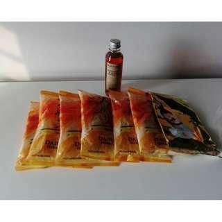 Confinement lemongrass & ginger bath gel + herbal bath packs