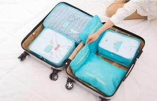 🚚 Out of stock Travel storage six pieces of travel luggage packing bags clothing bags into portable waterproof storage bags