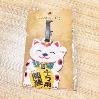 🚚 Lucky Cat Luggage Tag 招财猫