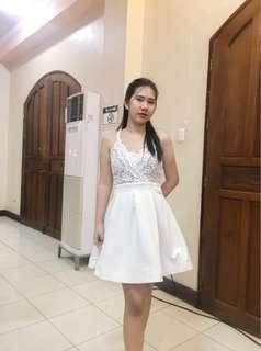 Whie formal dress