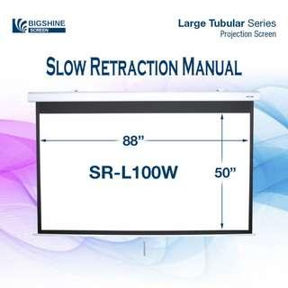 [BIGSHINE] 100 Inch (16:9) Slow Retraction Manual Projector Screen