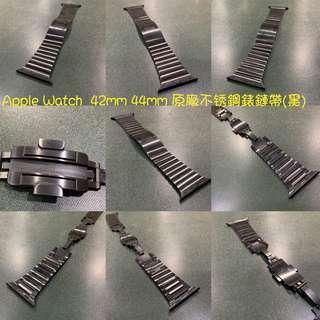 🚚 Apple Watch 42mm 44mm 原廠不锈鋼錶鏈帶(黑) c6c6