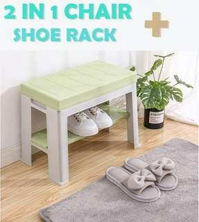 CHAIR AND SHOE RACK