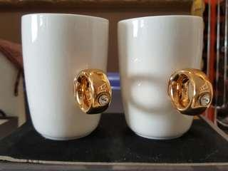 Brand new Diamond Ring Ceramic Cups x3