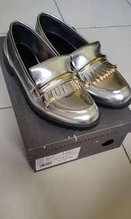 Charles & Keith Silver loafers