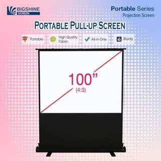 [BIGSHINE] 100 Inch Portable Pull up Projector Screen