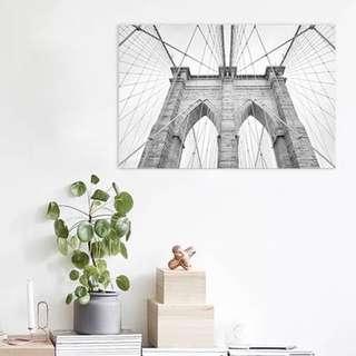 Monochrome wall art print