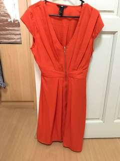 H&M Orange Work Dress