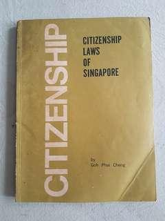 1970 citizenship laws of Singapore book