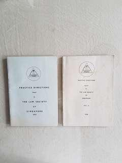Practice directions book 1972 & 1978
