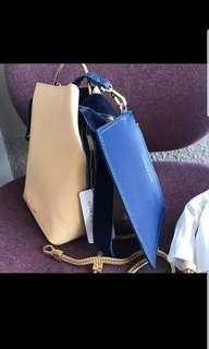 Charles and keith mall pull out bucket bag with sling
