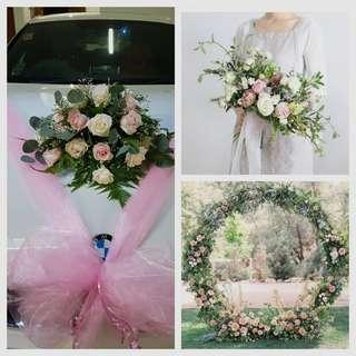 Wedding package - pink & white