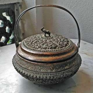 old copper decorative jar