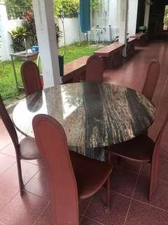 Dining table chairs - 6