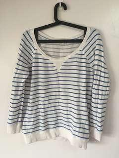 Overrun Forever 21 Stripes Sweater Pullover