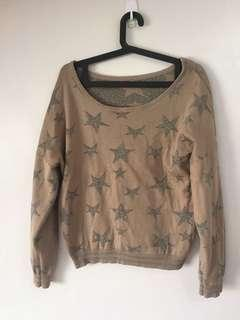 Korean-inspired Stars Sweater Pullover