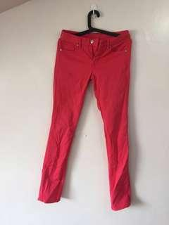 Authentic Uniqlo Cherry Red/Pink Denim Skinny Jeans
