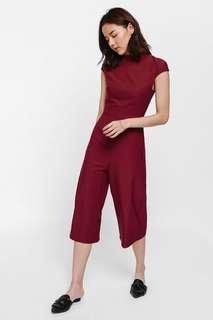 🚚 LoveBonito Jennon High neck midi jumpsuit Size S Red