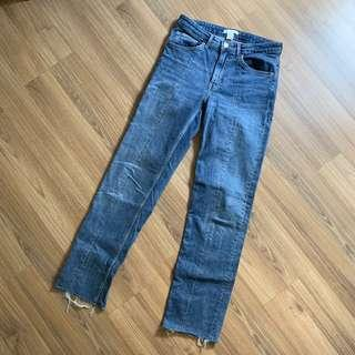 H&M Frayed Slim Fit Jeans
