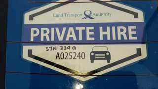 Private Hire Relief Driver for Grab