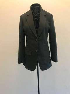 Versace Black Suit Jacket (A-line slim fit) (used but still in fantastic condition)