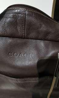 🚚 Coach Leather Duffel Bag for Men