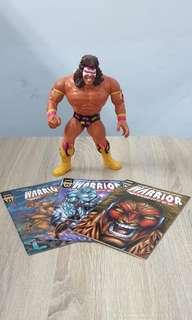 """WWF WWE 12"""" Ultimate Warrior Action Figure with Comic Books"""