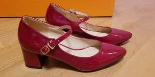(購自日本)紅色高踭鞋 結婚鞋