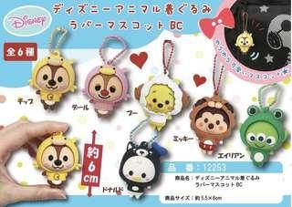 ||預購||日本🇯🇵連線代購 迪士尼 動物變裝玩偶吊飾 西瓜 三眼怪