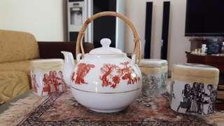 Teapot Mlesna Porcelain Antique