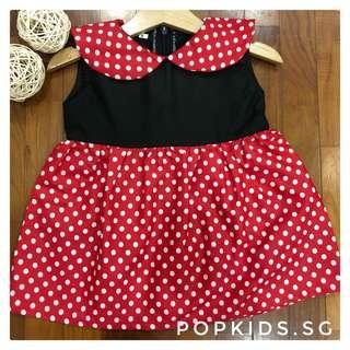 ‼️ЅᎯℒℰ 1-12yo Minnie Mouse Dress