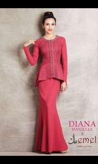 Diana danielle peplum kurung