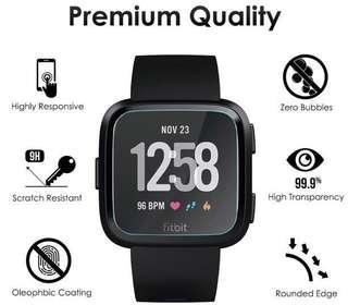 🚚 Fitbit Versa Tempered Glass Screen Protector