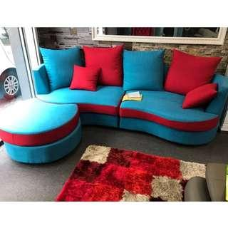 Curved Sofa 4 Seater